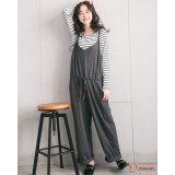 Nursing Set - Long 2pcs Strap Pants Grey