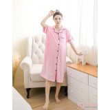 Mamma Pajamas - Collar Pink Dress