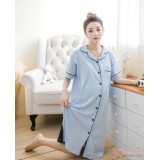 Mamma Pajamas - Collar Blue Dress