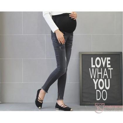 Maternity Jeans - 9 Slim Trash Black