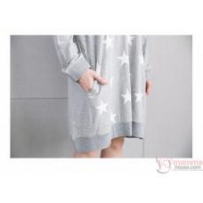 Nursing Set - Star Dark Blue Long Sleeves (plus baby romper or clothes set)