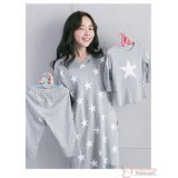 Nursing Set - Star Grey Long Sleeves (plus baby romper or clothes set)