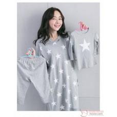 Nursing Set - Star Grey Long Sleeves (plus baby romper or clothes set)