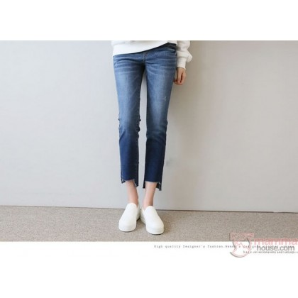 Maternity Jeans - Trend Straight Fit Blue