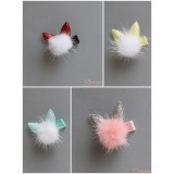 Baby Hair Clip - Kitten Ball (4 colors)
