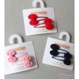 Baby Hair Clip - Velvet Ribbon Clip (1 pair)