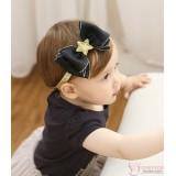 Baby Headband - Chiffon Ribbon Black