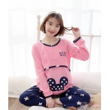 Mamma Pajamas - Long Star Minnie Pink
