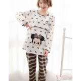 Mamma Pajamas - Long Mickey House Beige