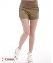 Maternity Shorts - Pocket Stripe (Black or Khaki)