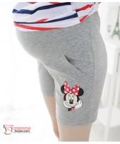 Maternity Shorts - Cotton Minnie Grey