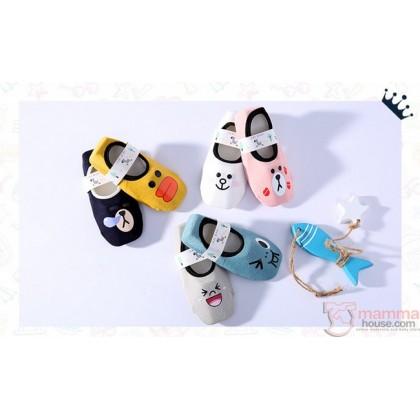 Baby Socks - Smiling Bear (6 different design)