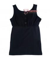 Nursing Singlet - JP Top Button Black