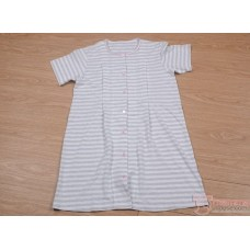 Mamma Pajamas - JP Stripe Light Grey (set)