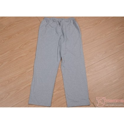 Mamma Pajamas - JP Stripe Light Grey (tops only, no pants)