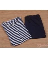 Mamma Pajamas - JP Stripe Dark Blue (set)