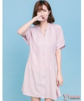 Nursing Dress - Sweet Button Pink