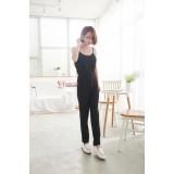 Nursing Jumpsuit - 1 pc Singlet Long Black