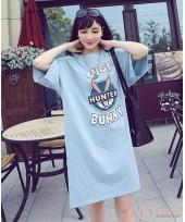 Nursing Dress - Blue Bunny