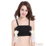 T Nursing Bra - Hands Free Black Buttons