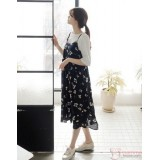 Maternity Dress - 2pcs Floral Long
