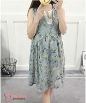 Maternity Dress - Sweet Flora Grey
