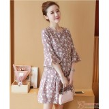 Nursing Dress - Pink Rabbit Dress