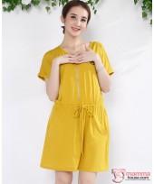 Nursing Dress - Zip Yellow or Red