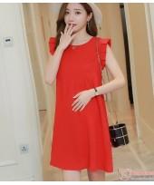 Maternity Dress - Chiffon Shine Red