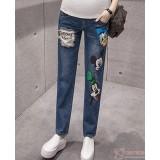 Maternity Jeans - Mickey Donald Blue