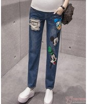 Maternity Jeans - Mickey Donald Blue