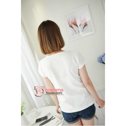 Nursing Tops - Hole Mickey White