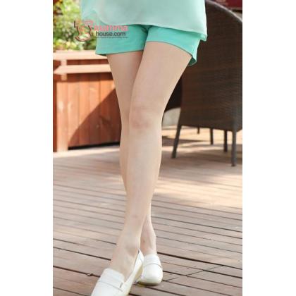 Maternity Shorts - Mini Mini Green Blue