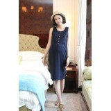 Maternity Dress - Long Blue (dress only)
