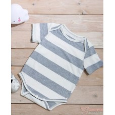 Nursing Set - Forge Stripe Grey (plus baby romper)