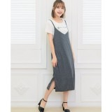 Nursing Dress - 2pcs Bell Dress Grey