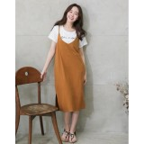 Nursing Dress - 2pcs Bell Dress Khaki