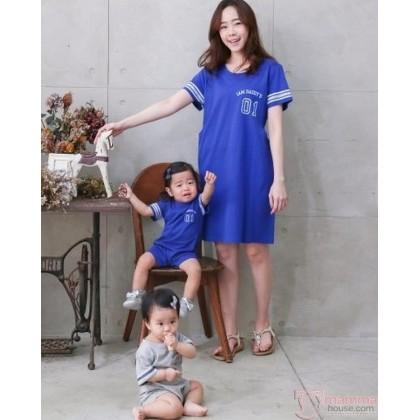 Nursing Set - 01 Dress Blue (plus baby romper)