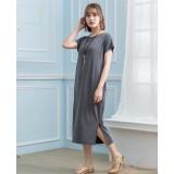Nursing Dress - Simple Long Dress Dark Grey
