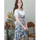 Nursing Dress - 2pcs Ive Flora Light Blue