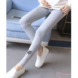 Maternity Legging - Long Kitten Light Grey