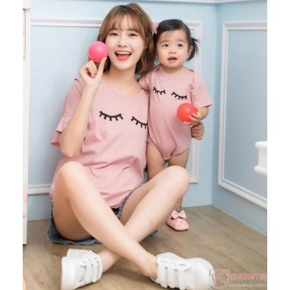 Nursing Set - Twinkle Pink (plus baby romper)