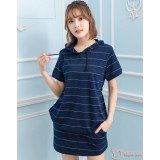 Nursing Set - Dark Blue Stripe (2pcs set)