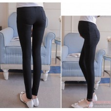 Maternity Pants - Working Lace Opening Black