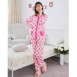 Mamma Pajamas - Long Heart Pink Heart