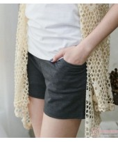Maternity Shorts - Cotton Pure Grey