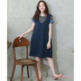 Maternity Dress - Singlet Dress Dark Blue
