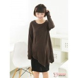Nursing Dress - Long Modal Brown