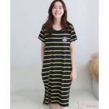 Nursing Dress - Stripe Yellow Monkey