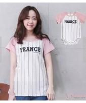 Nursing Set - France Pink (plus baby romper)